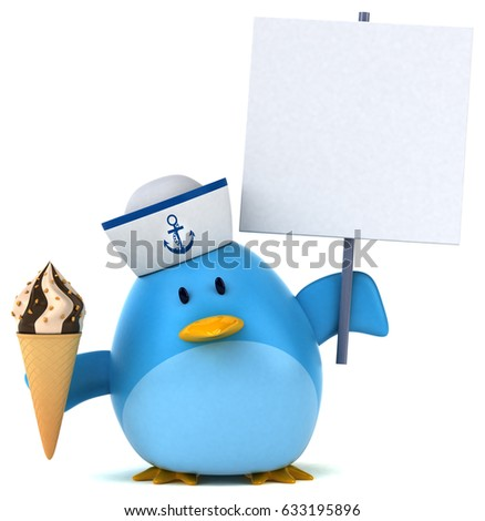 Blue bird - 3D Illustration