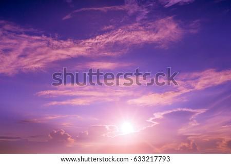 Colorful sky and sunrise. Natural landscape #633217793