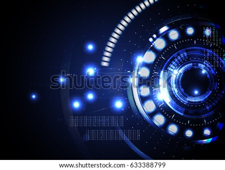 Technological abstract digital cyber light background vector design #633388799