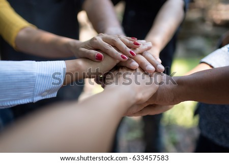 Group of Diverse Hands Together Joining Concept #633457583