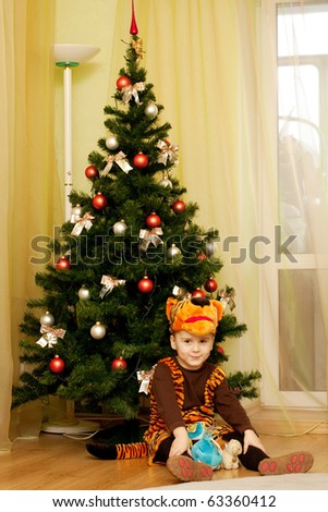 Young boy as Tiger #63360412