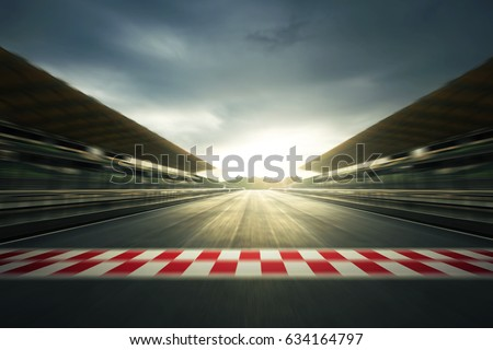 F1 evening circuit motion blur road