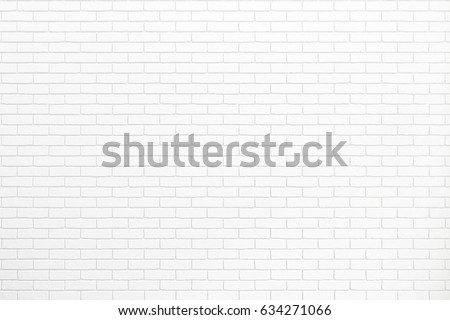 white brick wall texture for background usage as a backdrop design #634271066