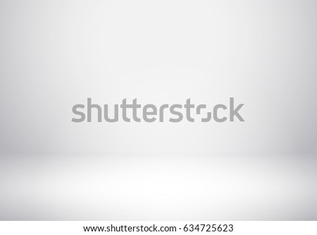 Background for product display. Vector clean white scene floor mock up. Empty studio photo shoot room background for your advertising design.