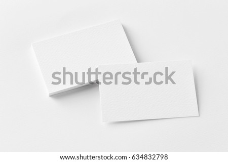 Photo of business cards stack. Template for branding identity. Isolated with clipping path. #634832798