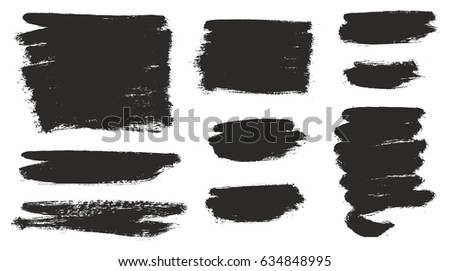 Round Tip Brush Strokes Background Mix of Heavy Paint Fill & Light Paint Fill Set 02 #634848995
