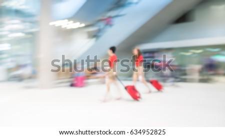 Air Hostess / Cabin Crew / Flight  Attendant In Red Uniform  #634952825