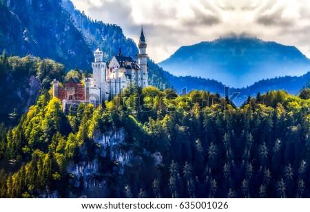 Mountain castle landscape #635001026
