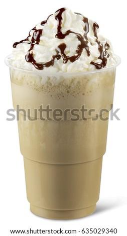 coffee ice cream cold iced milk shake drink chocolate beverage glass dessert refreshment #635029340