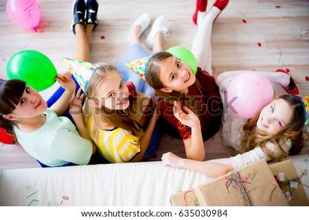 Girls celebrating birthday #635030984