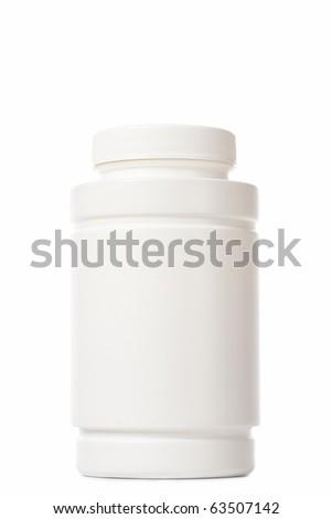 white medicine bottle on white background #63507142