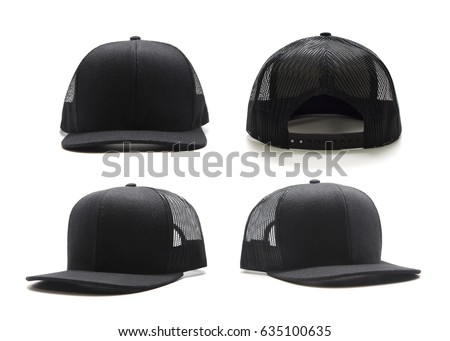 Black cap isolated on white background. Multiple angles included Royalty-Free Stock Photo #635100635