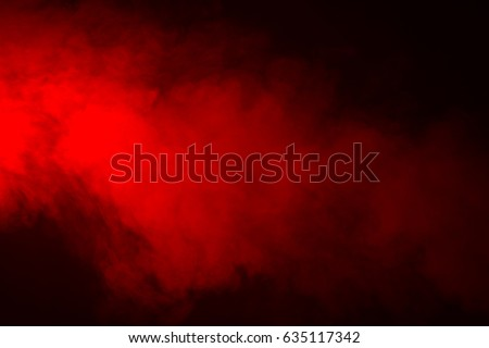 Red Smoke in black
