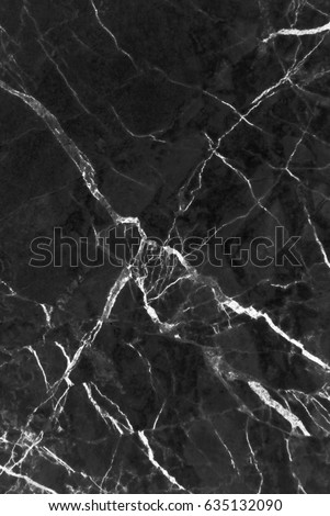 Black marble texture shot through with subtle white veining (Natural pattern for backdrop or background, Can also be used for create surface effect to architectural slab, ceramic floor and wall tiles) #635132090