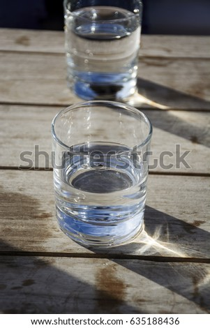Two glasses with pure water #635188436