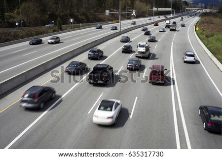 Highway with cars, traffic #635317730