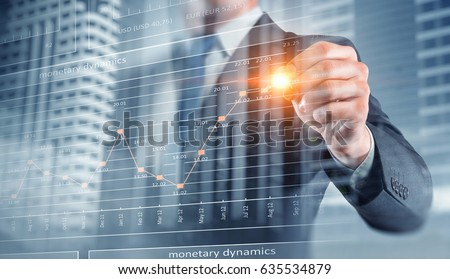 Dynamics of financial growth Royalty-Free Stock Photo #635534879