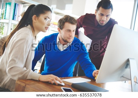Group of people working with technology #635537078