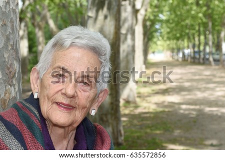 Portrait of a senior woman #635572856