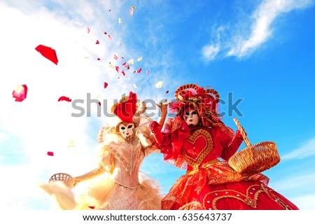 Beautiful stilts at the carnival  #635643737