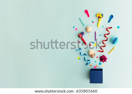 Birthday party background Royalty-Free Stock Photo #635801660