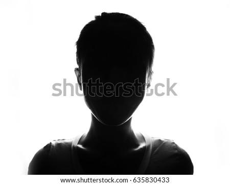 Female person silhouette  #635830433