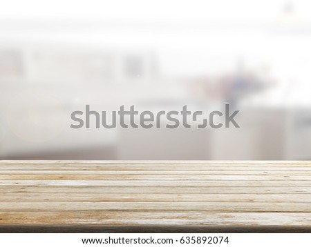 closeup top wood table with Blur Background #635892074