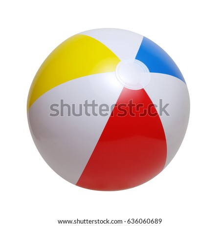 Beach ball isolated on a white background #636060689
