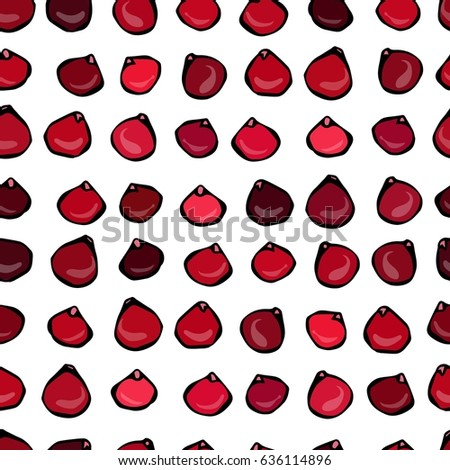 Seamless Vector Pattern with Cranberry on a White Background. #636114896