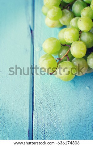 Bunch of green grapes #636174806