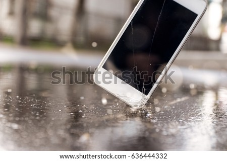 Phone hitting the street