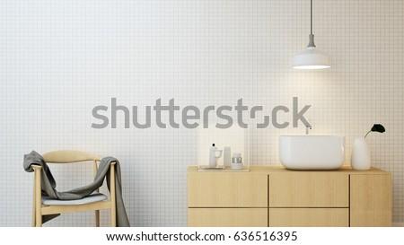 The interior hand basin space and decoration in condominium - 3D Rendering  #636516395
