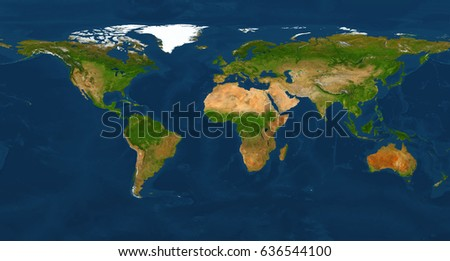 Extra large big map with highest detail avalable. 200 Mega Pixels resolution. XXL size physical world map illustration Clipping patch included. Primary source, elements of this image furnished by NASA