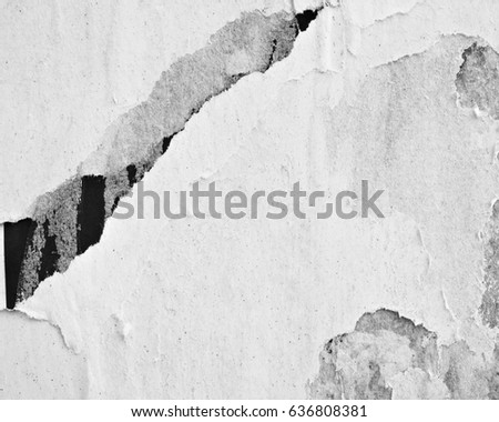 Old posters / Ripped paper / Grunge texture background old creased paper wall abstract #636808381