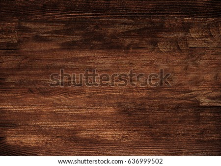Dark wooden texture. Wood brown texture. Background old panels. Retro wooden table. Rustic background. Vintage colored surface. #636999502