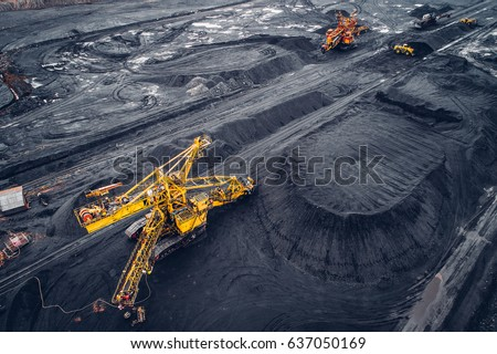 Coal mining at an open pit #637050169