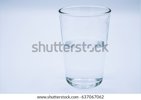Glass of water clear isolate on over white background #637067062