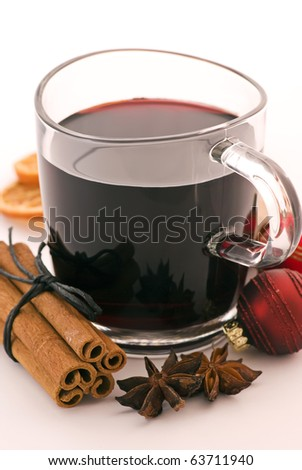 Christmas Decoration with Hot Wine Punch #63711940