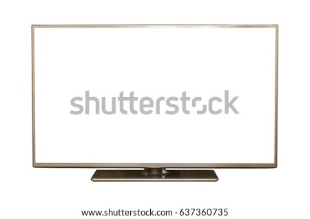 TV flat screen isolated. #637360735
