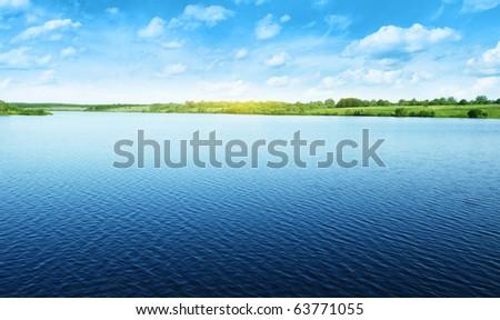 Summer water landscape. #63771055