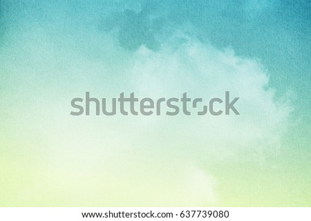 cloudy sky with pastel gradient color and grunge paper texture, nature abstract background     Royalty-Free Stock Photo #637739080