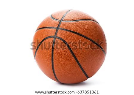 Basketball ball over white background. #637851361