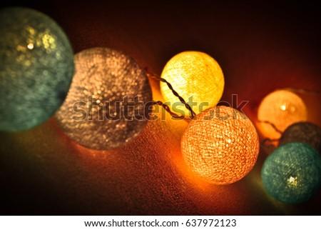 Festive decor, evening decoration, atmospheric romantic  #637972123