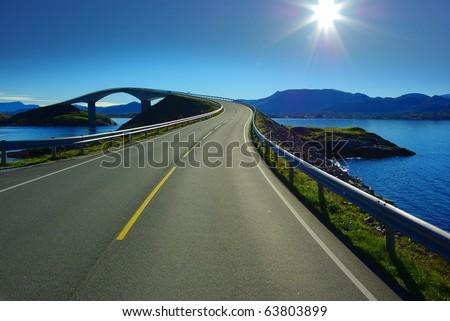 Picturesque Norway landscape. Atlanterhavsvegen #63803899
