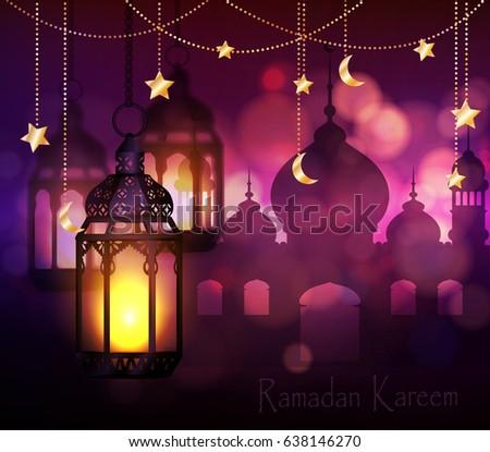 Ramadan Kareem, greeting background #638146270