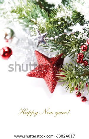 Bright christmas composition with stars and sample text #63824017