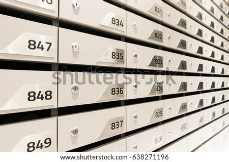 White new postbox in condominium