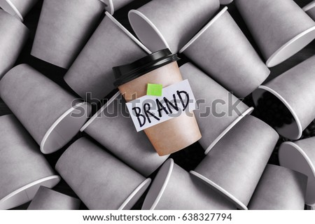 Coffee identity brand building concept with different and standing out from others Royalty-Free Stock Photo #638327794