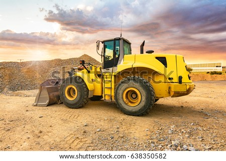 Excavator in the construction of a road #638350582