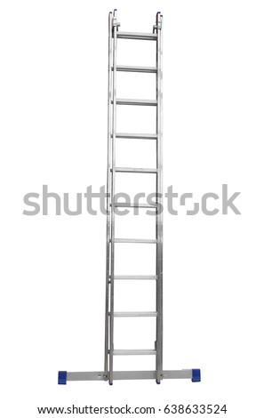 Metal ladder isolated on white background. #638633524